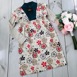 Tea Collection Long Sleeves Floral Dress